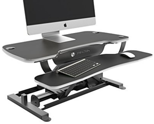 Versa Tables Comes Through With A Terrific Option For Tall People This Is Another Great Z Type Desk Converter That Even Though Isn T Quite As The