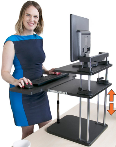 Stand Steady S Uptrak Dual Level Standing Desk A Detailed