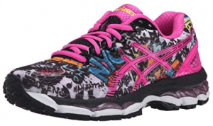 ASICS is known for specializing in running shoes. The great thing is that the comfort designed for running translates over to standing all day as well.
